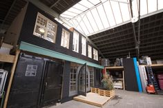 The studio we constructed inside our warehouse (built atop two old shipping containers as main constructional elements)
