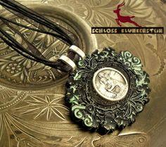 HEILIGER CHRISTOPHORUS - Medaillon  von Schloss Klunkerstein - Uhren, von Hand gefertigter Unikat - Schmuck aus Naturmaterialien, Medaillons, Steampunk -, Shabby - & Vintage - Schätze, sowie viele einzigartige und liebevolle Geschenke ... auf DaWanda.com