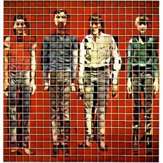 Designed and created by David Byrne. It features portraits of the band members, which are a composite of Polaroid photographs taken by Byrne.