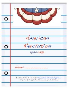American Revolution Unit with test and a study guide