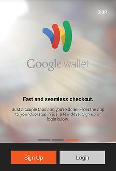 Android UI Google Wallet Image Blur