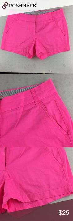 NWOT J. Crew pink broken-in chino women's shorts **** IF YOU THINK OUR AFFORDABLE PRICES ARE TOO HIGH FOR YOU, MAKE A REASONABLE OFFER ON ANY OF THE ITEMS IN OUR STORE AND WE MAY ACCEPT IT****     - Size: 2 - Material: cotton  - Condition: EXCELLENT, brand new  - Color: pink - Pockets: 4 - Lined: n/a - Closure: button - Pair with:    *Measurements:   Bust:  WAIST: Length:  SLEEVE: Rise: Inseam:   * The more you buy the more you save. Feel free to ask any questions. Thank you for stopping by…