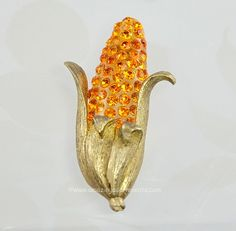 Check out the deal on Hard to Find Vintage FORBIDDEN VEGETABLE Ear of Corn Brooch ~ BOOK PIECE at Amazing Adornments