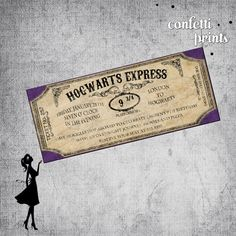 Printable Harry Potter Birthday Invitation - HOGWARTS EXPRESS