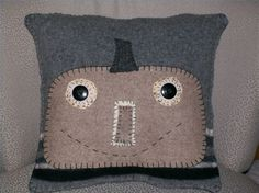 How to Make a Pumpkin Pillow From Recycled Sweaters thumbnail