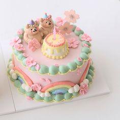 Gorgeous Cakes, Pretty Cakes, Cute Cakes, Amazing Cakes, Mini Tortillas, Korean Cake, Pastel Cakes, Frog Cakes, Cute Baking