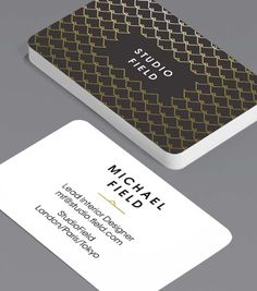 Tailored Collection Business Card Designs | Gold Foil, Spot UV templates | MOO (United States)