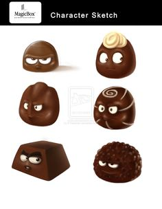 chocolate characters by X-Factorism.deviantart.com on @DeviantArt