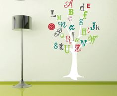 Primary ABC Tree Can Stick The Letters On With Velcro Baby - Vinyl wall decals alphabet