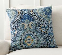 Beale Paisley Reversible Pillow Cover #potterybarn