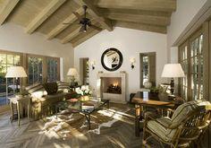 Montecito Cottage Living Room mediterranean living room