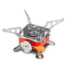 Leeko Camping StoveCollapsible Portable Outdoor Camping Gear Gas Camping Stove Burner with Electronic Ignition and Black Case for Camping Hiking Hunting Outdoor Activities >>> Want additional info? Click on the image.(This is an Amazon affiliate link and I receive a commission for the sales)