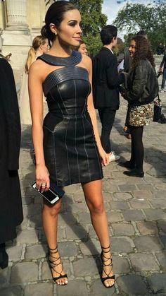 Olivia Culpo American Model & Actress (Miss Universe Source by outfits bajitas Sexy Outfits, Sexy Dresses, Short Dresses, Fashion Outfits, Leder Outfits, Leather Fashion, Celebrity Style, Stylish, Lady