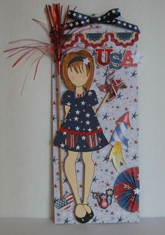 Sweet Irene's Inspirations: Prima - Julie Nutting Doll Stamp - 4th of July