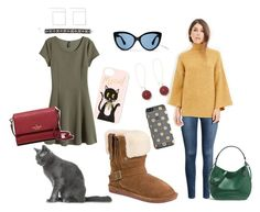 """Madison Sails from Summer to Fall"" by bearpawstyle on Polyvore featuring Rifle Paper Co, Bearpaw, H&M, Love 21, MANGO, Topshop, Coach and Kate Spade"