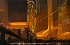 Syd Mead's Concept Art from Blade Runner.