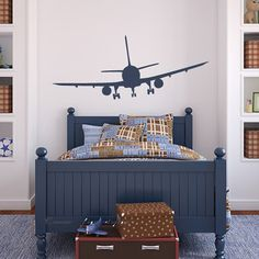62x26inches Airplane Airline Aeroplane ----Removable Graphic Art wall decals stickers home decor