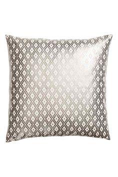 Чехол на подушку с рисунком: Чехол на подушку из хлопкового холста с набивным мерцающим рисунком. Задняя сторона однотонная. Потайная молния.