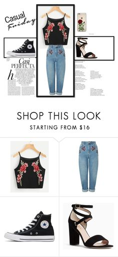"""""""Untitled #397"""" by bohocacti ❤ liked on Polyvore featuring Miss Selfridge, Converse, Kate Spade and Whiteley"""