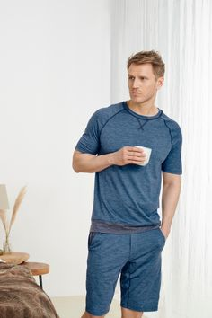 Sleep better with Dagsmejan's sleep enhancing pajamas Most Comfortable Pajamas, Cotton Pjs, Best Pajamas, Fibre And Fabric, Swedish Design, T Shirt And Shorts, Sleep Shirt, Stay Warm, Pyjamas