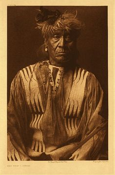 """Red Whip – Atsina, 1908. Photogravure. Curtis Caption: """"A biographical sketch of this subject is given in Volume V, page 183."""""""