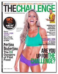 Fitness Model Lindsay Messina, on The Cover of The Challenge Magazine are you ready to  rock with Body By Vi and start  your 90 day challenge