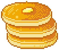 Find images and videos about food, kawaii and transparent on We Heart It - the app to get lost in what you love. Pixel Art Food, Anime Pixel Art, Kawaii Doodles, Kawaii Art, Cute Pixels, Overlays, Pancake Art, Pixel Drawing, 8bit Art