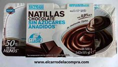 natillas chocolate mercadona -  2pp/u Recetas Light, Lidl, Mousse, Food And Drink, Crochet, Food Items, Products, Dukan Diet, Healthy Dieting