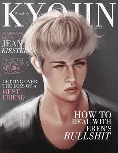 """SnK Magazine: Jean by putemphasis on DeviantArt """"N-no, im not dating Armin I swear!"""""""