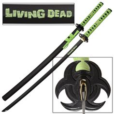 Face your foes head-on when the Living Dead Zombie Samurai hits! You will have nothing to fear when you wield this Zombie Killer Apocalypse Katana. #livingdeadapocalypsejapanesesamuraikatanasword
