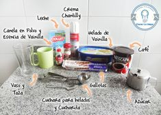 Materiales2 Parfait, Chocolates, Health, Recipes, Decor, Good Coffee, How To Make, Vanilla Ice Cream, Food