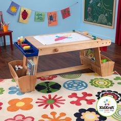 -Made of composite wooden materials in a natural finish. -Paper roll and 2 plastic paint cups with lids are incl  sc 1 st  Pinterest & Grow \u0027n Up Crayola Wooden Kids 3 Piece Table and Chair Set ...