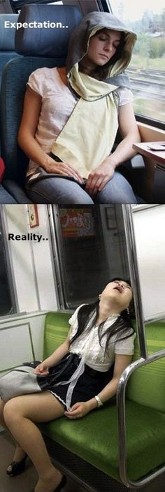 Falling asleep on the bus