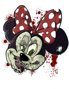 Minnie Mouse Drawing, Mickey Mouse Art, Evil Cartoon Characters, Disney Characters, Zombie Disney, Hunny Bunny, Book Wallpaper, New Children's Books, Disney Fairies