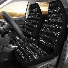 Sheet Music Car Seat Covers (Set of The perfect seat covers for music lovers! Universal Fit: The car seat covers are approximately 53 Music Items, Music Stuff, Music Things, Music Decor, Art Music, Music Artwork, Sound Of Music, Music Is Life, All About Music