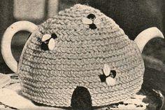 Vintage Bee Beehive Easy Tea Cosy Cozy Cosie Crochet Pattern