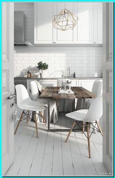 20 Luxury Scandinavian Kitchen Decor Ideas - How to Create? Rustic Kitchen, Kitchen Remodel, Kitchen Design, Kitchen Flooring, Kitchen Decor, Modern Kitchen, Kitchen Room, Kitchen Layout, Scandinavian Kitchen Design