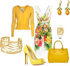 """""""Yellow & White"""" by seidsonstephens ❤ liked on Polyvore"""