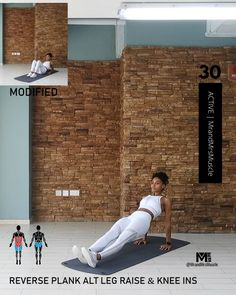 Abs Toning HIIT Workout Killer ab exercise for a flat stomach and strong core. Fitness Workouts, Gym Workout Videos, Fitness Workout For Women, Abs Workout Routines, At Home Workouts, Fitness Goals, Workout Partner, Workout Abs, Body Fitness