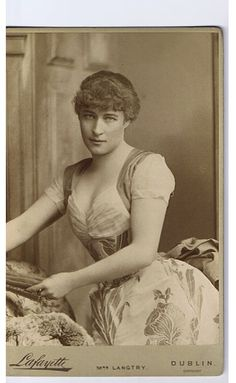Lily Langtry, Stage Actress (1853-1921) Born in Jersey, Channel   Islands. Real name was Emilie Charlotte Le Breton. Well known as   the royal mistress of the Prince of Wales (edward vii)