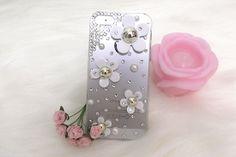 デイジー|iPhone5/5s アイフォン 5 アイホン デイジー ホワイト デコケース カバー --iPhone 5/5s - iPhone,スマートフォンデコケース・スマホカバー専門店 | He&She