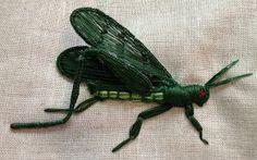 Arlene's Blog: Grasshopper Stumpwork