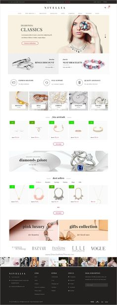 Nitro is beautifully design universal #WordPress theme for amazing #Jewelry #accessories #eCommerce website with 15+ multipurpose homepage layouts download now➩ https://themeforest.net/item/nitro-universal-woocommerce-theme-from-ecommerce-experts/15761106?ref=Datasata