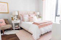 With a sophisticated style and a love of all things pink, Havenly wanted to give Jessica the posh and playful bedroom she craved.