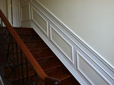 Custom woodwork for a staircase