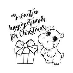 Pin By Kathern Neidecker On Designs Hippopotamus For Christmas Christmas Svg Christmas Vinyl