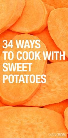 Sweet Potato Recipes You're Not Making, but Should Here are 34 low-cal dishes using sweet potatoes!Here are 34 low-cal dishes using sweet potatoes! Sweet Potato Recipes, Vegetable Recipes, Vegetarian Recipes, Healthy Recipes, Whole Food Recipes, Cooking Recipes, Healthy Snacks, Healthy Eating, Cooking Sweet Potatoes