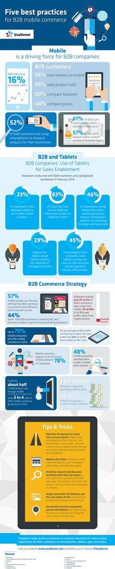 5 Best Practices for B2B mobile commerce Las mejores prácticas para el comercio móvil