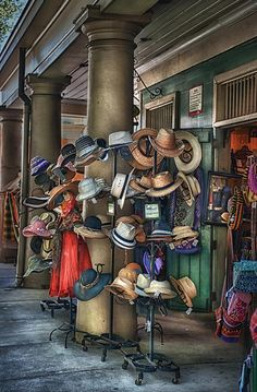 Hat Shop, French Market, New Orleans