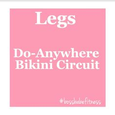 The Do-Anywhere Bikini Circuit ---> https://www.youtube.com/watch?v=IJro-Hd9wK4&index=11&list=PLkQBCctMdS_UoUpYjlzFavfKEJlVoZC9L